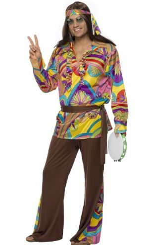 Psychedelic Hippie Man Plus Size Costume